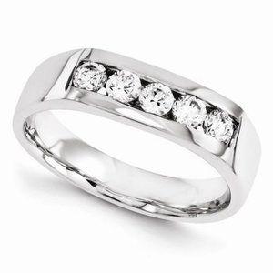 14Kw Diamond Band Mens Jewelry